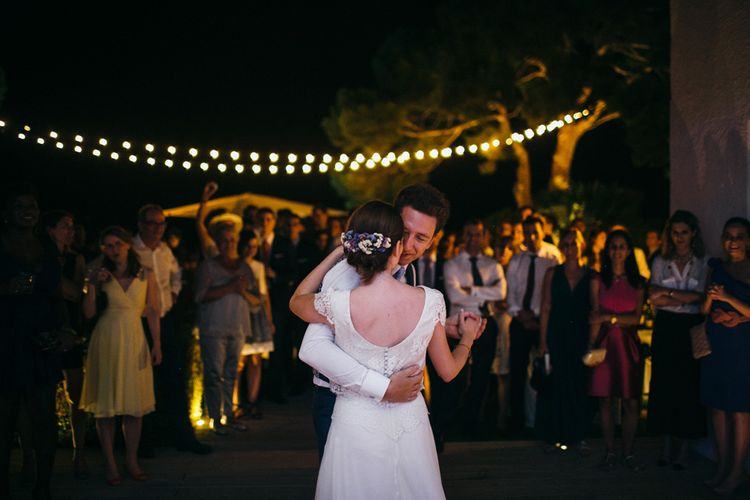 Outdoor Festoon Lit First Dance