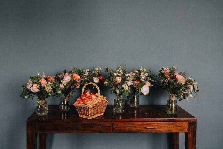 Organic Peach & Coral Bouquets