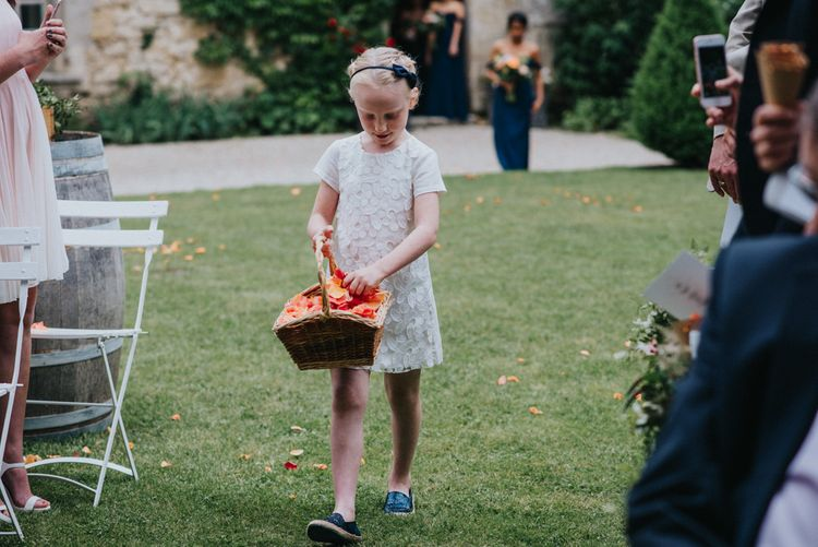 Flower Girl with Basket of Confetti