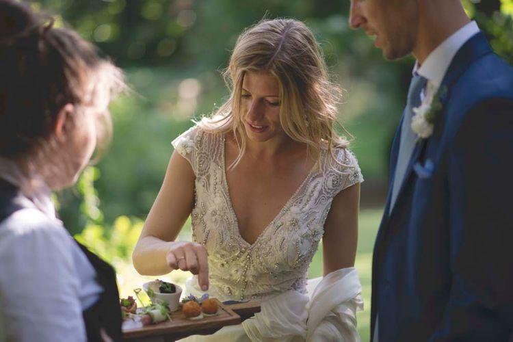 Bride in Alice Temperley Bridal Gown