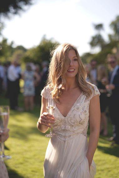 Bride in Alice Temperley Wedding Dress