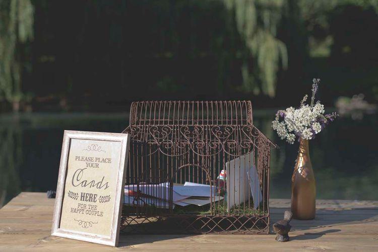 Wedding Cards Bird Cage Box