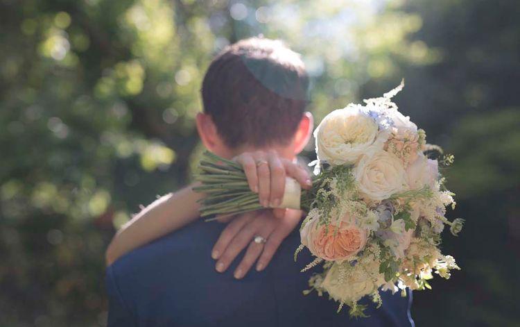 Pastel Peach Wedding Bouquet