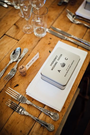 Ration Box Wedding Favours // Vintage Inspired Wedding With 20s & 30s Influences In London At Shoreditch Studios With Images From Beatrici Photography And Styling By The Barnables