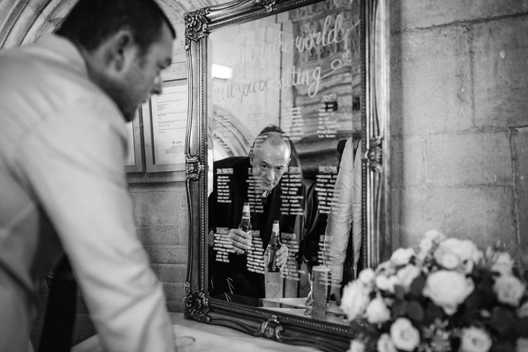 Mirrored Table Plan | St Donat's Castle Wedding With Pink & Gold Colour Scheme | Images by Steve Gerrard Photography