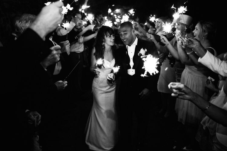 Sparkler Send Off At Wedding | Image by Steve Gerrard Photography
