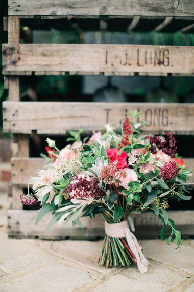Red Wedding Bouquet by Joanne Truby Floral Design   M & J Photography   Dan Dolan Films