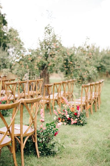 Outdoor Aisle & Altar Style at The Great Barn, Rolverden   Joanne Truby Floral Design   M & J Photography   Dan Dolan Films