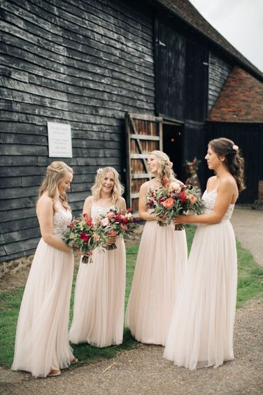 Bridesmaids in Needle & Thread Gowns   M & J Photography   Dan Dolan Films