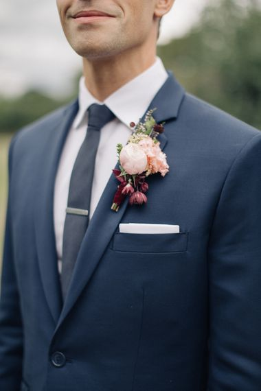 Buttonhole   Groom in A Suit That Fits   The Great Barn, Rolvenden Wedding   M & J Photography   Dan Dolan Films
