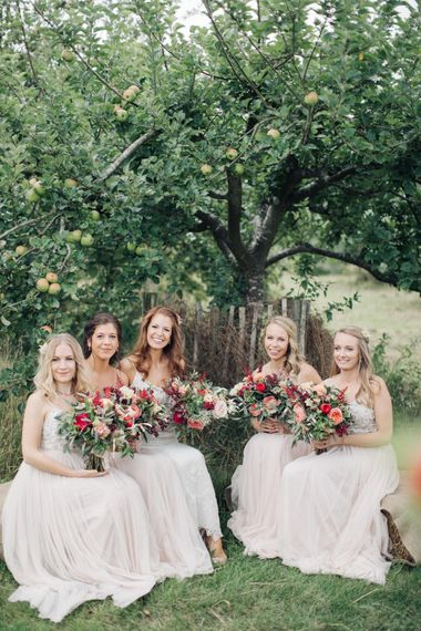 Bride in Limor Rose Norma Gown   Bridesmaids in Needle & Thread Gowns   M & J Photography   Dan Dolan Films