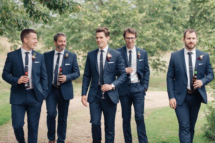 Groom in A Suit That Fits   Groomsmen in Red Herring at Debenhams   The Great Barn, Rolvenden Wedding   M & J Photography   Dan Dolan Films