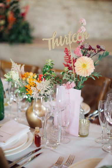Centrepieces by Joanne Truby Floral Design   The Great Barn, Rolvenden Wedding   M & J Photography   Dan Dolan Films