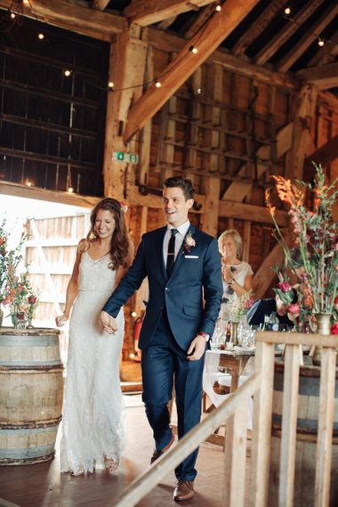 Bride in Limor Rose Norma Gown   Groom in A Suit That Fits   The Great Barn, Rolvenden Wedding   M & J Photography   Dan Dolan Films