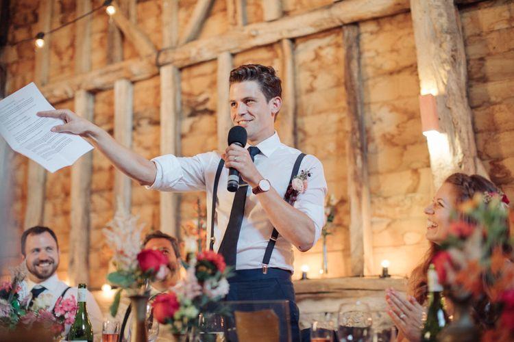 Grooms Speech   The Great Barn, Rolvenden Wedding   M & J Photography   Dan Dolan Films