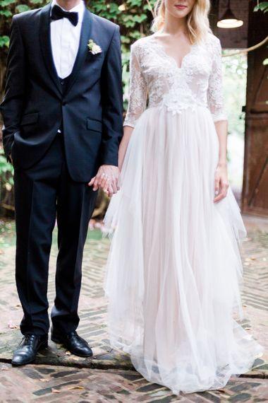 Bride & Groom Black Tie Wedding