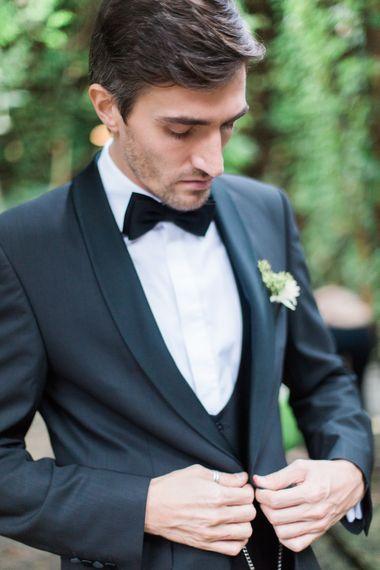 Groom in Black Tie