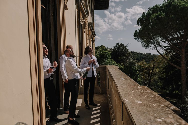 Grooms Preparations   Super Luxe Blush, White & Greenery Destination Wedding at Villa Pitiana, Tuscany, Italy   Jason Mark Harris Photography   Angelo La Torre Film