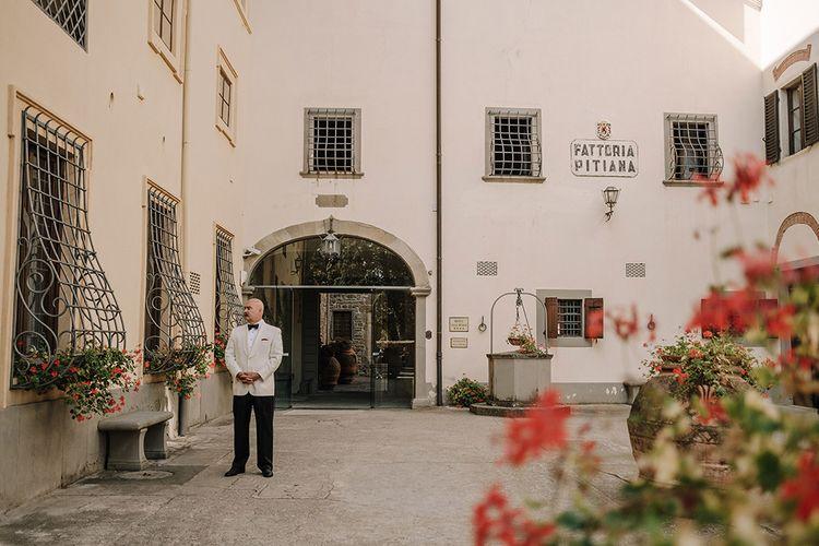 Father of the Bride   Super Luxe Blush, White & Greenery Destination Wedding at Villa Pitiana, Tuscany, Italy   Jason Mark Harris Photography   Angelo La Torre Film