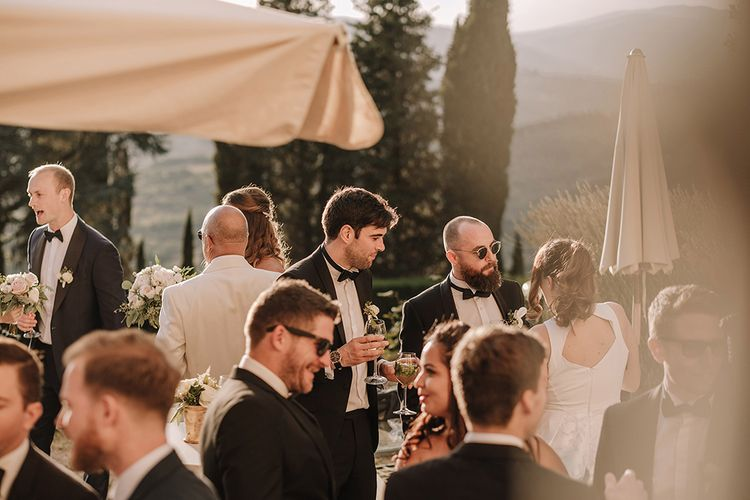 Wedding Ceremony   Wedding Music   Super Luxe Blush, White & Greenery Destination Wedding at Villa Pitiana, Tuscany, Italy   Jason Mark Harris Photography   Angelo La Torre Film
