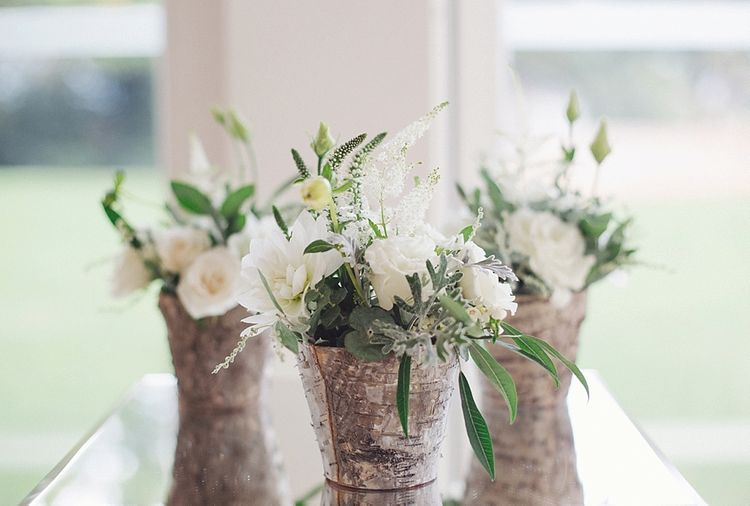 White Flowers Wedding Decor