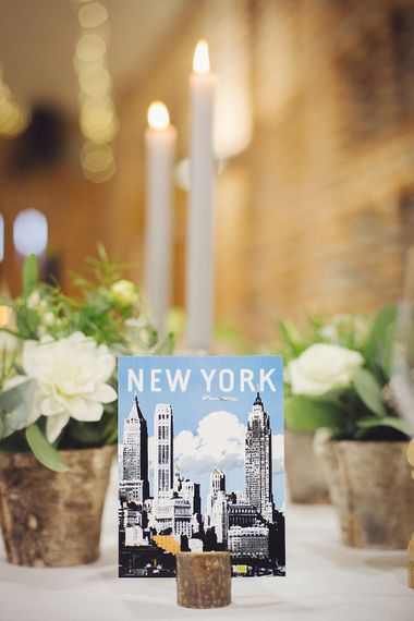 New York Postcard Table Names