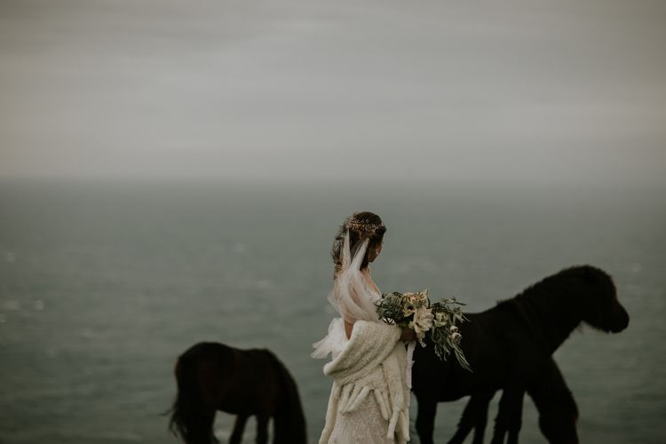 Wild Ponies // Magical Winter Elopement Wedding Cornwall With Images By Enchanted Brides Photography & Film By Baxter And Ted With Styling From A Belle & A Brit