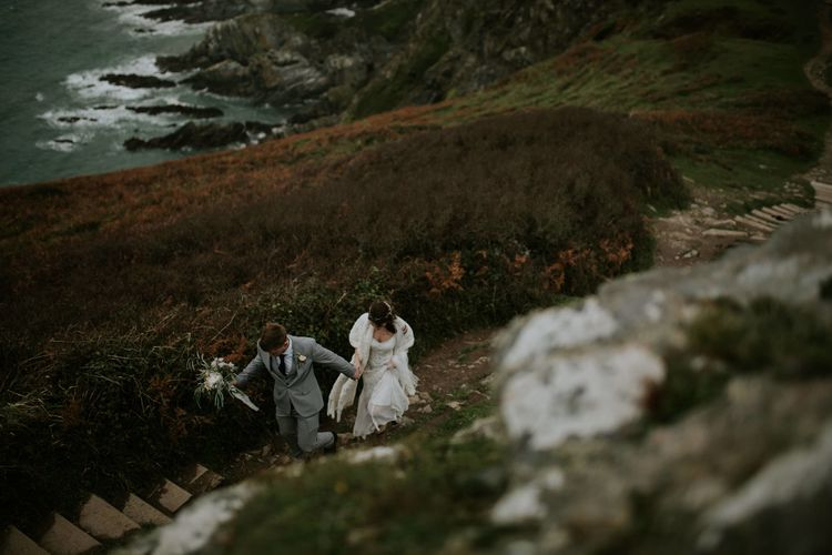 Magical Winter Elopement Wedding Cornwall With Images By Enchanted Brides Photography & Film By Baxter And Ted With Styling From A Belle & A Brit