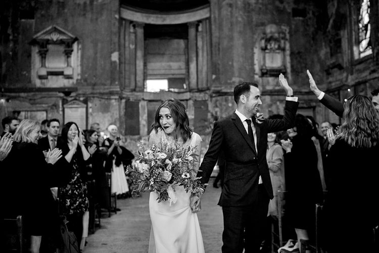 Wedding Ceremony At Asylum Chapel // Relaxed Foodie Wedding At Brixton East Dita Rosted Events Worm London Floral Design