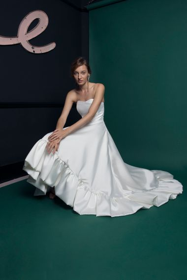 Bridal Gown With High Low Hem From Halfpenny London