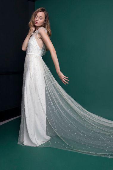Elegant Pearl Wedding Dress From Halfpenny London