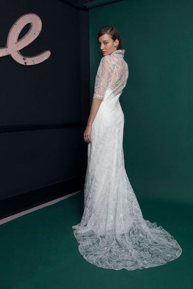 Bridal Gown With Long Lace Sleeves Halfpenny London