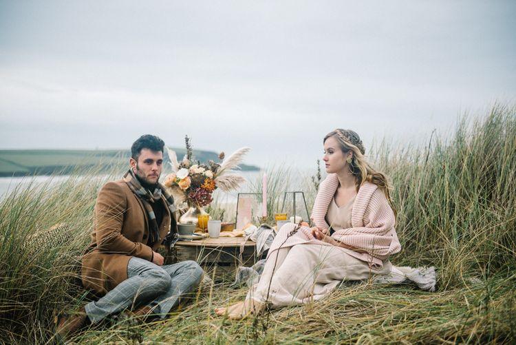 Outdoor Wedding Picnic At The Coast