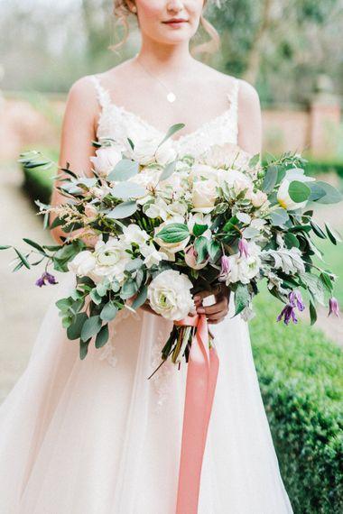 Oversized Wedding Bouquet With Silk Ribbon