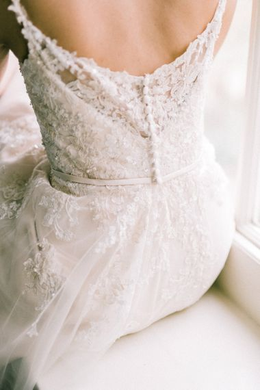Pretty Detail On Bridal Gown