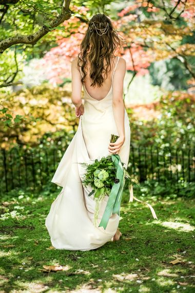 Grecian Goddess Bride With Elegant Gowns By Charlie Brear And Anna Campbell Leading South West Wedding Suppliers Bath Wedding Suppliers Abigail Constanza Bridal
