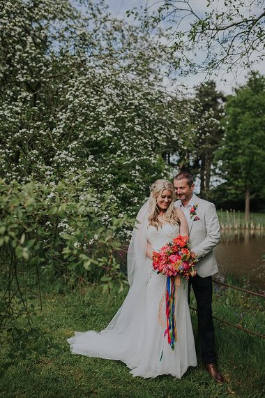 Colourful Spring Wedding At Iscoyd Park With Coral Charm Peonies And Bride In Pronovias Images From Kate Gray Photography
