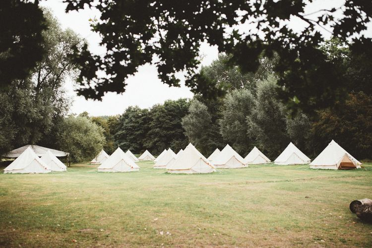 Glamping In Bell Tents At Wedding