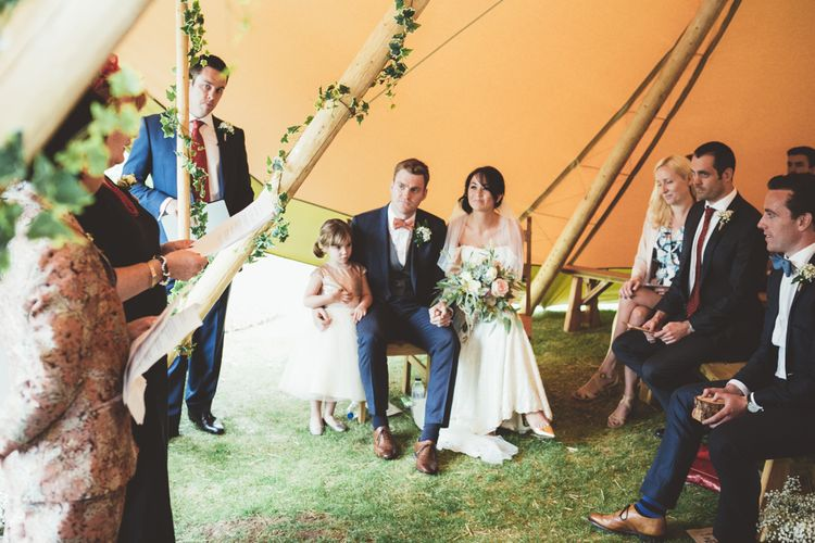 Wedding Ceremony In A Tipi