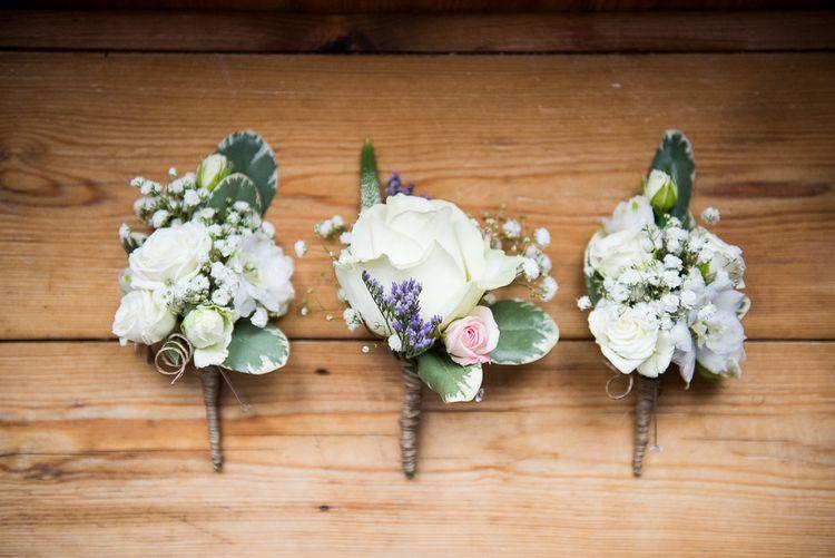 Buttonholes   Coastal Wedding at Driftwood Spas St Agnes, Cornwall   Jessica Grace Photography