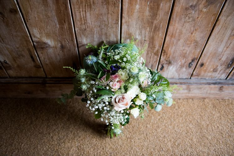 Romantic Wedding Bouquet   Coastal Wedding at Driftwood Spas St Agnes, Cornwall   Jessica Grace Photography