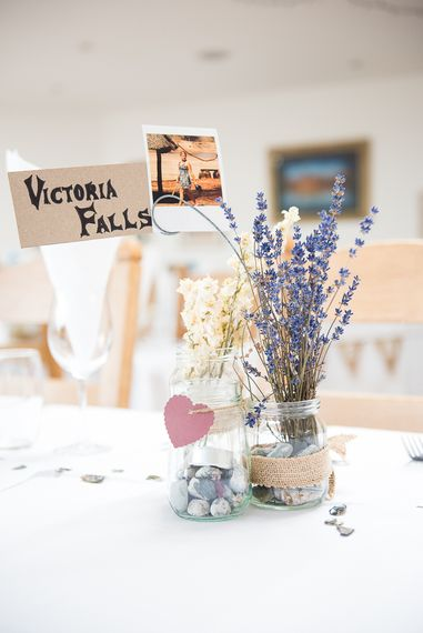 Lavender in Jars   Coastal Wedding at Driftwood Spas St Agnes, Cornwall   Jessica Grace Photography