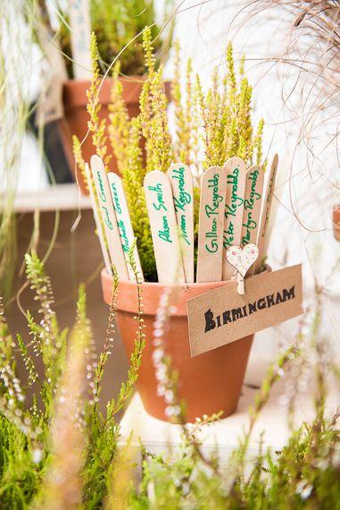 Plant Pot Table Plan   Coastal Wedding at Driftwood Spas St Agnes, Cornwall   Jessica Grace Photography