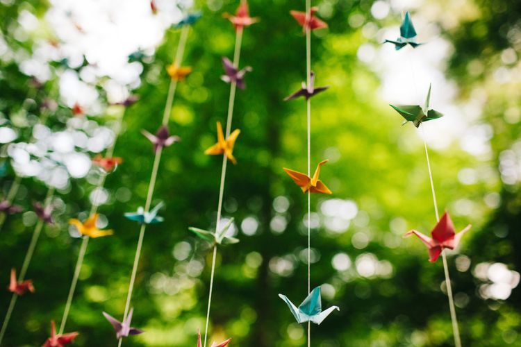 Origami Paper Crane Wedding Decor