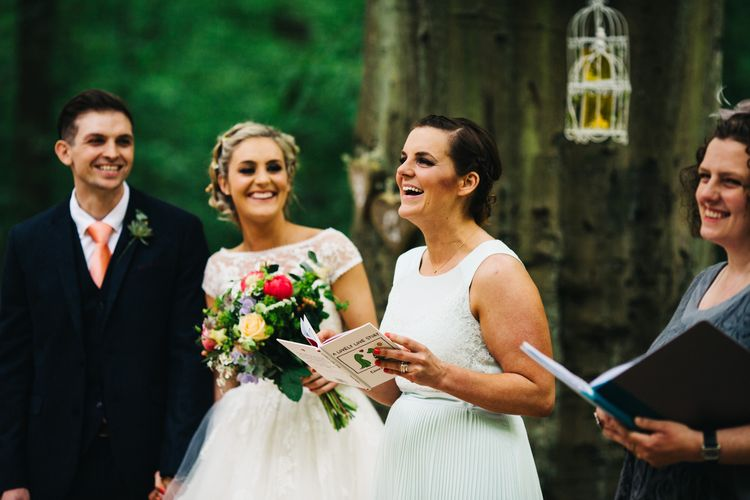Bridesmaid in Ted Baker Dress