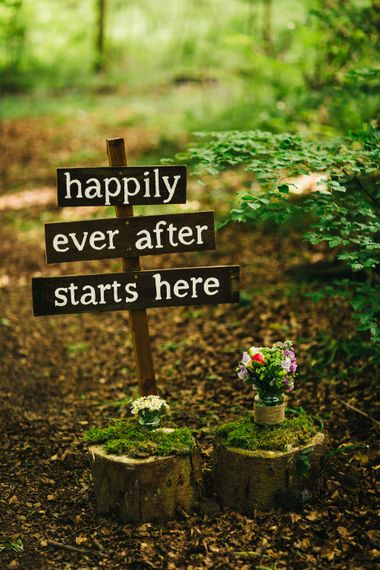 Happily Ever After Wooden Wedding Sign