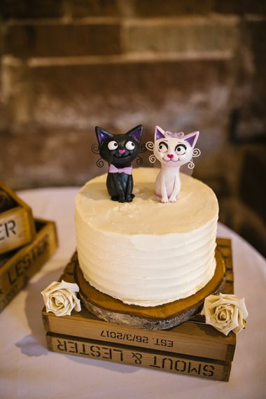 Cat Wedding Cake Toppers | Curradine Barns, West Midlands | Chris Barber Photography