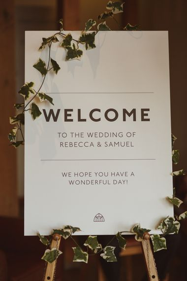 Welcome Wedding Sign | Wedding Stationery