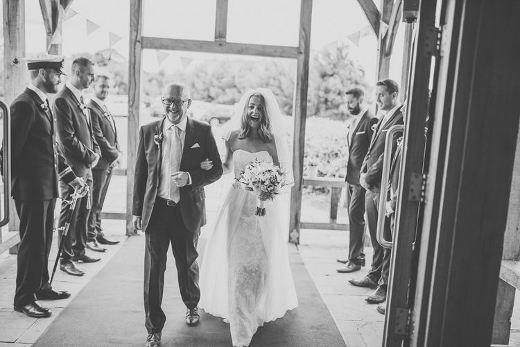 Bride in Stewart Parvin Gown Bridal Entrance