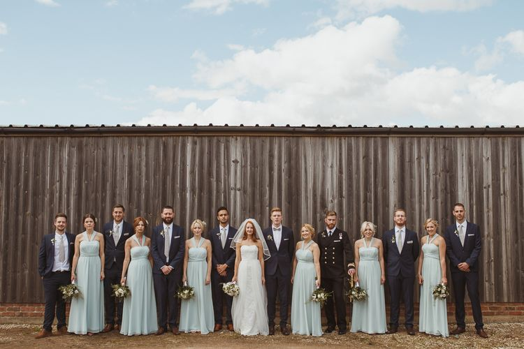 Classic Wedding Party in Monsoon Gowns & Moss Bros Suits